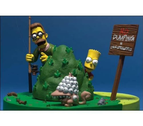 Picture of McFarlane The Simpsons Movie: Bart and Ned Flanders -