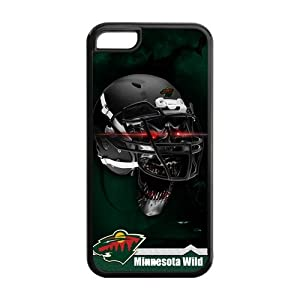 Christmas Gifts NHL Minnesota Wild With Skull Helmet Perfect Fit Iphone 5C Plastic And TPU Silicone Durable Back Case Snap On