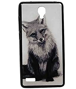 Cute Fox Exclusive Rubberised Back Case Cover For Xiaomi Redmi Note 3G/4G