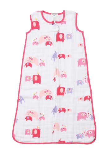 Angel Dear Double Layer Sleep Sack, Pink Elephant