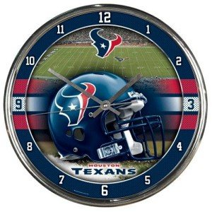 NFL Houston Texans Chrome Clock