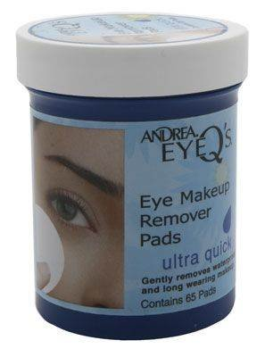 Andrea Eye Q's Eye Makeup Remover Pads, Ultra Quick , 65 pads
