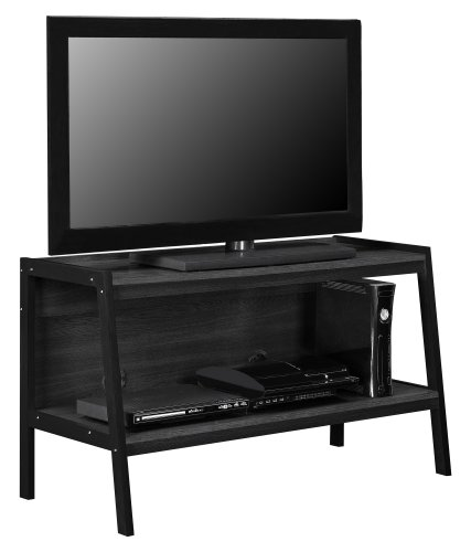 Altra Furniture Ladder TV Stand, Black Finish