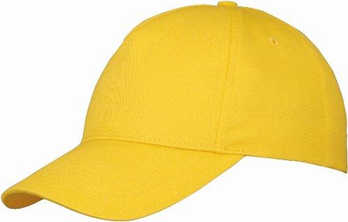 US BASIC 5 PANEL CHILDRENS BASEBALL CAP HAT - 13 COLOURS (GOLDEN YELLOW)
