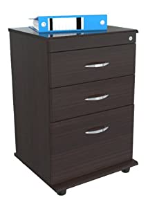 Inval America AR-3X1S Mobile File with 1 File Drawer and 2 Accessory Drawers