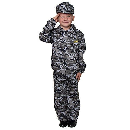 Green Camouflage Army Soldier Costume