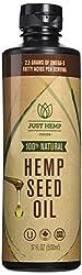 Just Hemp Foods 100% Cold Pressed, Cold Filtered Hemp Seed Oil (17 fl.oz.)