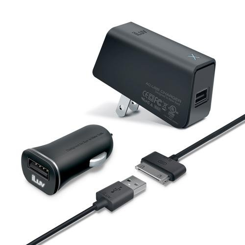 Iluv Iad568Blk Mobiseal Deluxe Combo Usb Charging Kit For Ipad/Iphone/Ipod - Retail Packaging - Black front-566181