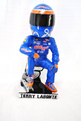"RARE Nascar Driver Terry Labonte #5 ""KELLOGGS TONY THE TIGER"" COMMERATIVE Nascar official autographed Bobble head Statue"