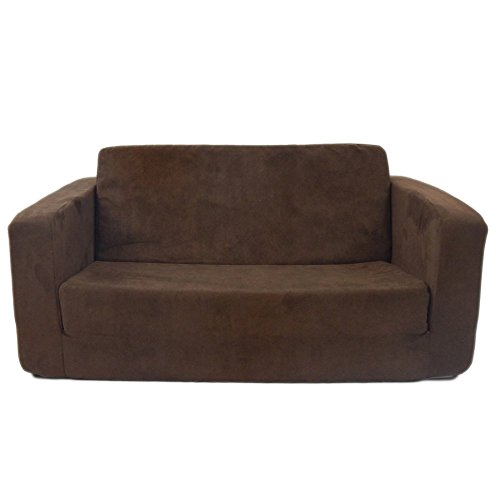 Toddler Flip Sofa Upholstery – Color: Micro Suede – Chocolate image