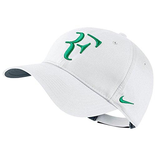 Nike Mens Roger Federer RF Hybrid Tennis Hat White/Flint Grey/Lucid Green (Roger Federer Cap compare prices)