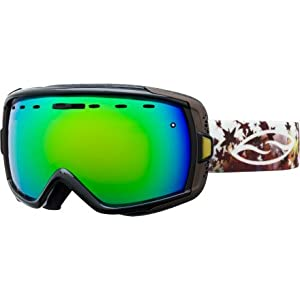 Smith HEIRESS Women's Snowboarding / Skiing Goggles - Black Fallen / Green Sol-X Mirrored Lens