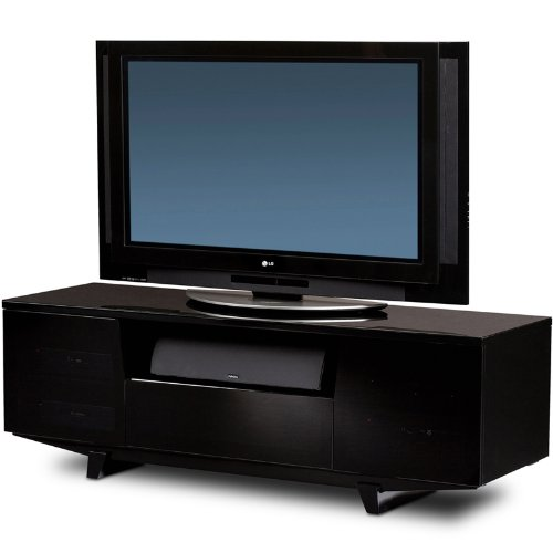 Cheap BDI Marina 8729-2 GB TV Stand Home Theater Cabinet 73″ – Gloss Black (8729-2GB)
