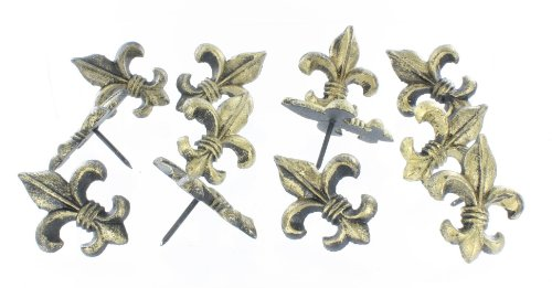 12 Pc - Cast Iron Fleur De Lis Nail - Craft Tack / Pin / Nails - Candle Wall Decor (Cast Iron Craft Pins compare prices)