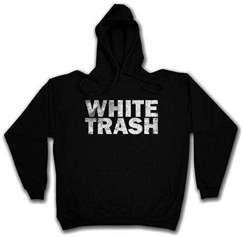 WHITE TRASH PULLOVER SWEATER SWEATSHIRT MAGLIONE FELPE CON CAPPUCCIO - Stati Uniti d'America Hillbilly Redneck Outlaw Südstaaten USA Vereinigte Staaten Taglie S - 5XL