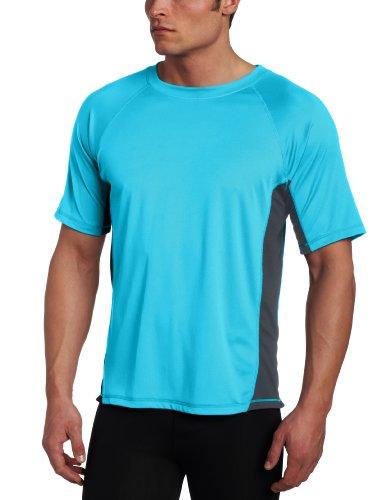 Kanu Surf Men's Big Cb Rashguard Extended Size Swim Tee UPF 50+, Neon Blue, 3X
