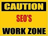 """6"""" CAUTION SEO Work Zone vinyl decal bumper sticker"""