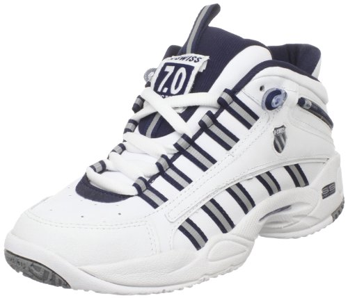 k swiss s ultrascendor mid tennis shoe white navy