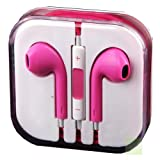 New Style Pink Earphones Headphones With Remote, Mic & Volume Controls For Apple iPad4 Ipad 3 Ipad 2 Ipad iPhone 5, Iphone 5s, Iphone 4s Iphone 4 Iphone3gs Iphone 3 ,Ipod nano, Ipod all generations. by G4GADGET®