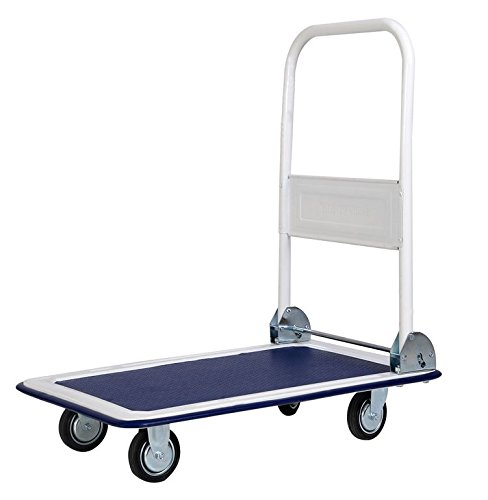 Moving-Grocery Cart Folding-Shopping Cart-Premium 330lbs Platform Cart Dolly Folding Foldable-With 4 Wheel Cart, 2 Swivel And 2 Regular-Wonderful Choice For Moving Heavy Goods-Guaranteed! (Package Cart compare prices)