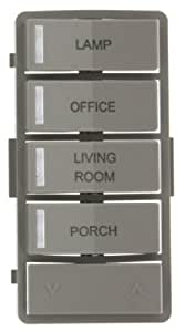 Leviton VPZLB-Z4G Vizia RF + Gray Label Kit for 4-Button Zone Controller (VRCZ4)