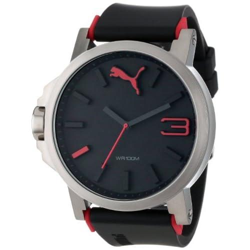 [プーマ] PUMA 腕時計 Men's Ultrasize Silver Analogue Watch クォーツ PU102941003 メンズ [バンド調節工具&高級セーム革セット]【並行輸入品】