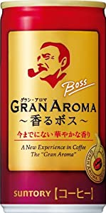 サントリー コーヒー ボス グランアロマ 185g×30本