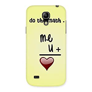 Cute Love Maths Back Case Cover for Galaxy S4 Mini