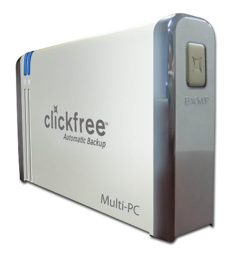 Clickfree Automatic Backup 1 TB USB 2.0 Desktop External Hard Drive HD1035 (Metallic Silver)
