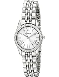 Geneva Women's 2441A-GEN Analog Display Analog Quartz Silver Watch
