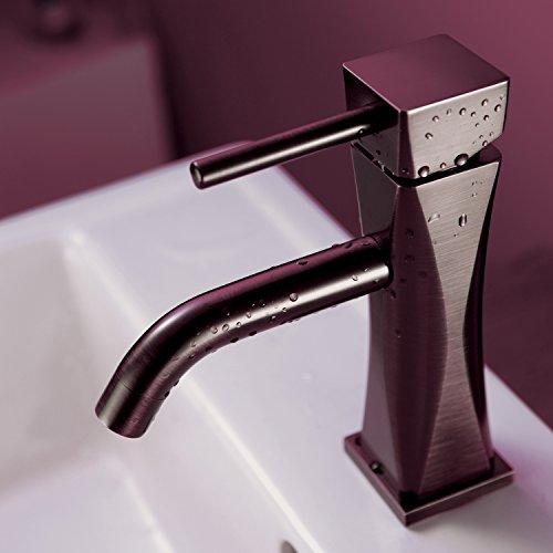 Sprinkle Antique Solid Brass Bathroom vessel sink tub basin Faucet Mixer Single Handle (Antique Copper Finish)