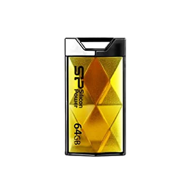 Silicon Power Touch 850 64GB USB 2.0 Flash Drive, Amber (SP064GBUF2850V1A)