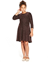 Autograph Metallic Effect Skater Dress