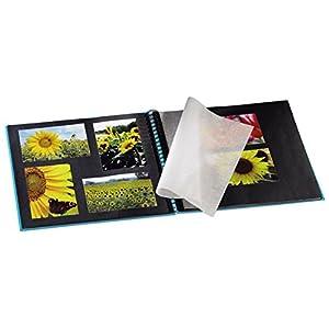 Hama Fotoalbum Fine Art, 50 schwarze Seiten (25 Blatt), Spiralalbum 36 x 32 cm, mit Ausschnitt für
