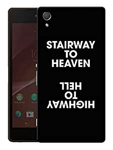 """Stairway To Heaven QuotePrinted Designer Mobile Back Cover For """"Sony Xperia Z3"""" (3D, Matte, Premium Quality Snap On Case)"""