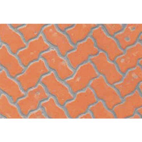 JTT Scenery Products Plastic Pattern Sheets: Interlocking Paving, 9.5mm