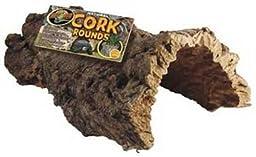 Medium, Full Cork Round Reptile Hideaway in Brown
