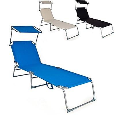 TecTake Gartenliege Sonnenliege Strandliege Freizeitliege mit Sonnendach 190cm -diverse Farben- von TecTake bei Gartenmöbel von Du und Dein Garten