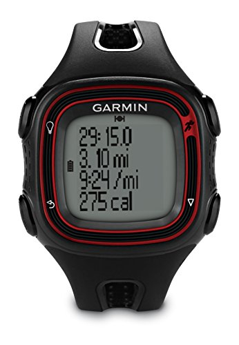 Garmin Forerunner 10 GPS Running Watch - Black/Red, Large