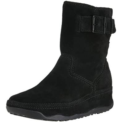 FitFlop Women's FF Superboot Short Ankle Boot,Black,10 M US