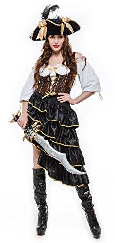 [Whatsofun Women's Pirate Costume S] (Pirate Maiden Adult Costumes)