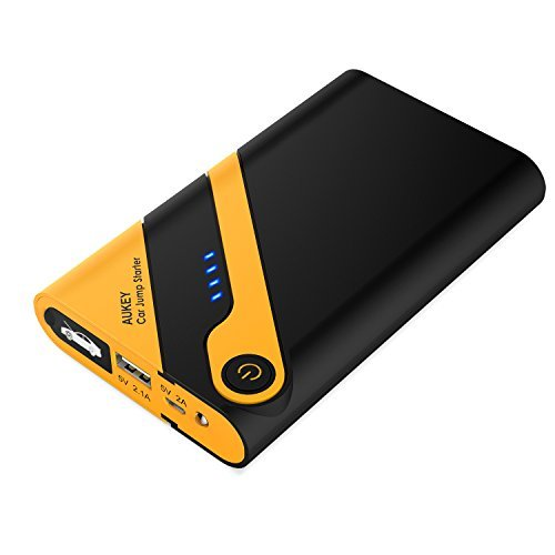 AUKEY Jump Starter with 400A Peak Current & 6000mAh Portable Charger for Car Battery, Boat, Motorcycles, Lawnmowers and More (Portable Motorcycle Jump Starter compare prices)