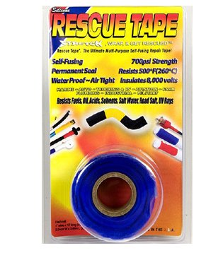 Rescue Tape Self-Fusing 700psi Strength Multi-Purpose Repair, Scuba Tape, Boat Tape, Pipe Tape, Plumbers Tape, Electric Tape, Duck Tape, Waterproof Tape, Pipe Repair, BLACK