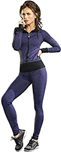 Adriana Arango 3 Piece Women's Sportswear Gym Set Fitted Outfit Jacket Top Pants