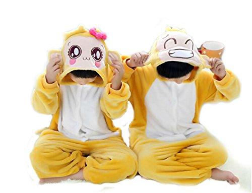 "Tjia Winter Kid Cosplay Flannel Monkey Animal Pajamas (M (49""- 53""), Girl) front-1060043"