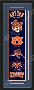 Heritage Banner Of Auburn Tigers With Team Color Double Matting-Framed Awesome &... by Art and More, Davenport, IA
