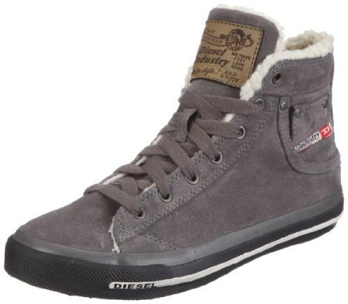 "Diesel""MAGNETE K"" EXPOSURE III K YO - sneaker mid - Scarpe da Ginnastica Basse Unisex - bambino , grigio (Grau/Grey Gargoyle), 33 EU"