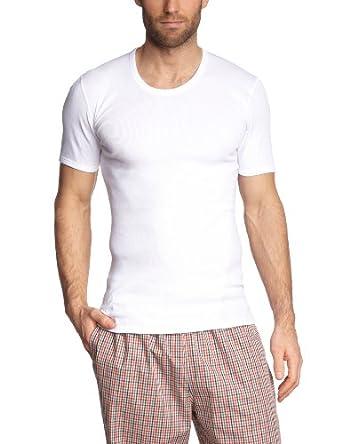 Schiesser Herren Unterhemd 205175-100, Gr. 5 (M), Weiß (100-weiss)