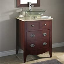 American Standard 9630.024.316 Jefferson Classic Traditional Style Vanity, Autumn Cherry