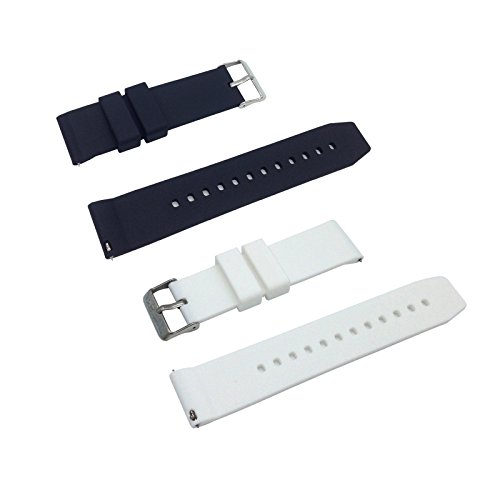 Replacement Watchband Strap for Basis Peak Ultimate Fitness and Sleep Tracker (Black White/set) (Basis Peak Strap compare prices)